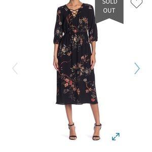 Dex NWT midi floral dress.